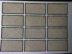 12 - Ho Scale 4' X 8' Lattice Sheets Laser Board Construction Building Material