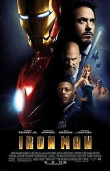 Iron Man Movie Poster Print  Robert Downey Jr Poster 11 X 17 Inches 2008
