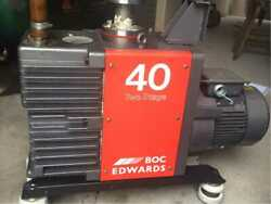 Edwards E2M40 Rotary Vane Vacuum Pump, used working