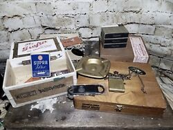 Cigar Boxes And Related Tobacco Items Some Vintage And Rare See Pics