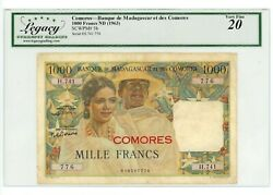 Comoros Andhellip P-5b Andhellip 100 Francs Andhellip Nd1960-63 ... Ch Vf.
