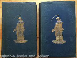 1839 Antique Us Navy History 1st Edition James Fenimore Cooper 2 Vol Us Marines