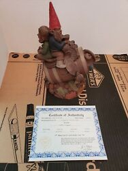 Red, Whitey And Old Blue Tom Clark Gnomes 1989 Impression 80 Hand Sighned W/coa