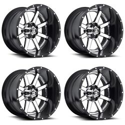 24x14 Fuel Maverick 2 piece D260 Set of 4 6x5.5 6x135 6x139.7 Ford Chevrolet GMC