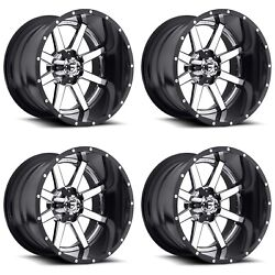 24x12 Fuel Maverick 2 piece D260 Set of 4 6x5.5 6x135 6x139.7 Ford Chevrolet GMC