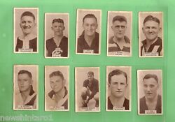 Gg. 1933 Vfl Footballers Wills Cigarette Cards 1 To 100