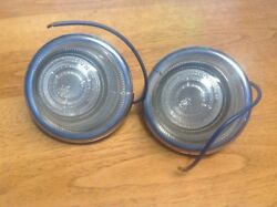 Nice Nos Pair Arrow Safety Device No. 20007 Clear Glass Lenses Marker Backup