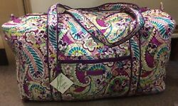 Vera Bradley Plums Up Mickey Duffel Bag Disney Parks Exclusive NWT