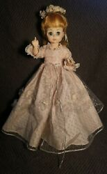 Vintage 1965 Madame Alexander Cinderella Doll Pose-able Open Close Eyes Tagged