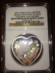2012 Tokelau Silver $1 - Enduring Love - MINT ERROR PF69 UC - NGC Coin VERY RARE