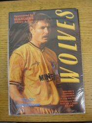 06/01/1990 Wolverhampton Wanderers V Sheffield Wednesday [fa Cup] . This Item Ha