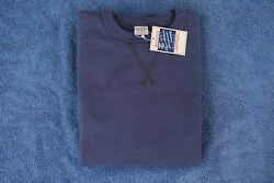BUZZ RICKSON NWT 1930'S & 40'S LOOP-WHEELED SET-IN SLEEVES SWEATSHIRT NAVY XXL