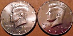 2005-p And 2005-d Kennedy Half Dollar 20 Coin Rolls 1 Of Each