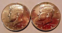 2018-p And 2018-d Kennedy Half Dollar 20 Coin Rolls 1 Of Each