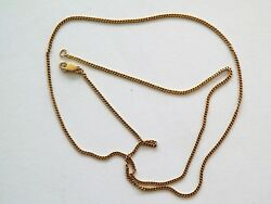 20.5and039and039 -14k Yellow Gold Crab Claw Clasp Necklace 1mm