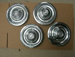 Gm 1967 67 Chevy Nova Ss Corvette Wheelcover Hubcaps Nos Gm Set .. 427