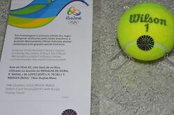 Rio 2016 Olympics Rafael Nadal Gold Medal Game Match Used Tennis Ball Doubles
