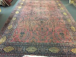 On Sale Great Genuine Rare Antique Hand Knotted Persian W.sig Rug Carpet 11'5x18