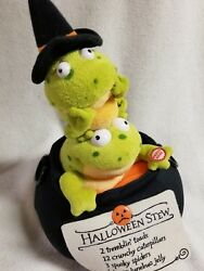 Halloween Animated Singing Frogs Lighted Calderon Witches Stew Battery Operated