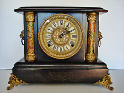 1890and039s Wm. Gilbert - 8 Day Mantle Clock - Running Accurately - Exc. Orig. Finish