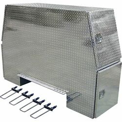 Buyers Products Aluminum HD Backpack Truck Box- Diamond Plate 92inLx58inWx24inH