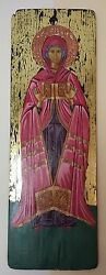 VIRGIN MARY HAND MADE TRADITIONAL CHRISTIAN ORTHODOX ICON