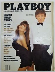 Vintage Playboy Magazine March 1990 Donald Trump On Cover With Interview