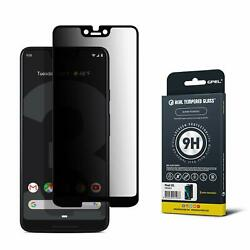 Google Pixel 3 XL Screen Protector Tempered Glass [Privacy Anti Spy] [Case-Frien
