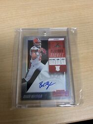 2018 Baker Mayfield Panini Contenders Football Playoff Ticket Auto Variation /49