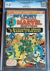 Special Marvel Edition 12 Marvel 1973 Cgc 9.8 Nm/mt Sgt. Nick Fury