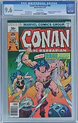 Conan The Barbarian 65 1976 Marvel Cgc 9.6 Nm+ 30 Cent Price Variant - White
