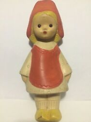 Rare Soviet Vintage Rubber Toy Ussr Little Red Riding Hood Squeaker Antique