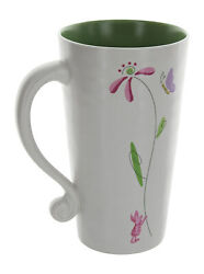 Disney Store Winnie The Pooh Piglet Flowers And Butterlies Tall Latte Coffee Mug