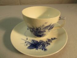 Offer Royal Copenhagen China Blue Flowers Weave Cup And Saucer - Set 10/1870