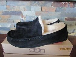 Mens Size 7 Ugg Ascot Wool Sheepskin Slippers Slip On Shoes Black Red 5775