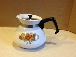 Vintage Corning Ware P-104 The Spice O' Life Vintage Stovetop Teapot 1970s