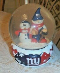 Vintage And Rare Forever Collectables New York Giants Christmas Water Globe Old
