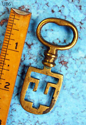 Skeleton Key Very Rare Brass Type Antique Old Scottish Latch Key - Victorian