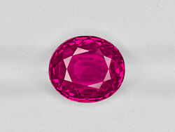 GRS Certified BURMA Ruby 5.35 Cts Natural Untreated Lively Vivid Pinkish Red