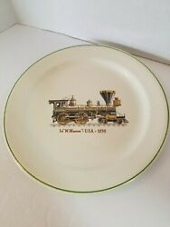 La W. Mason Train Plate 1856 USA GIEN France Creation Primefleur