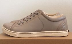 Sz 9 Ugg Womens Taya Low Top Trainers Leather Suede Tennis Shoes Oyster 1006828