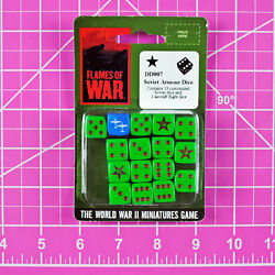FOW Flames of War DD007 Soviet Armour Dice Set OOP World War II WWII Battlefront