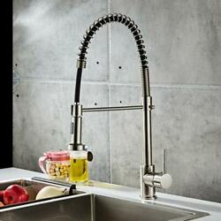 Spring Single Handle Single Hole Kitchen Sink Faucet Pull Down Sprayer Mixer Tap