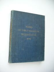 Rare 1938 Author's Copy Limited Edition Early American Silversmith Marks Book