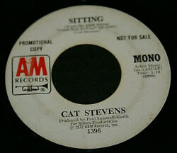 Cat Stevens Promo Record 45 Mono/stereo Sitting +co. Sleeve Great Player Oop