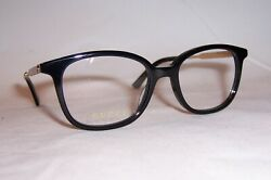 New Eyeglasses Gg 0202o 001 Black Gold 50mm Rx Authentic 0202