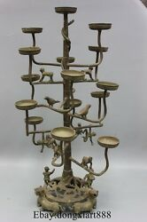 28 Chinese Bronze Monkey Bird Wild Beast Palace Oil Lamps Candle Holders
