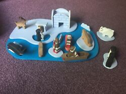 Woodland Fantasies Wooden Play Toy In Wood Box Antartic Hand Crafted