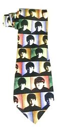 New Old Stk Beatles Rm Style Hard Days Night Tie Perfect Cond Four Faces
