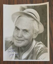 John Agar Signed 8 X 10 Bandw Photo Worked With John Wayne In The Late 1940and039s